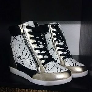 Shoe Dazzle Shoes - Wedge high top sneakers
